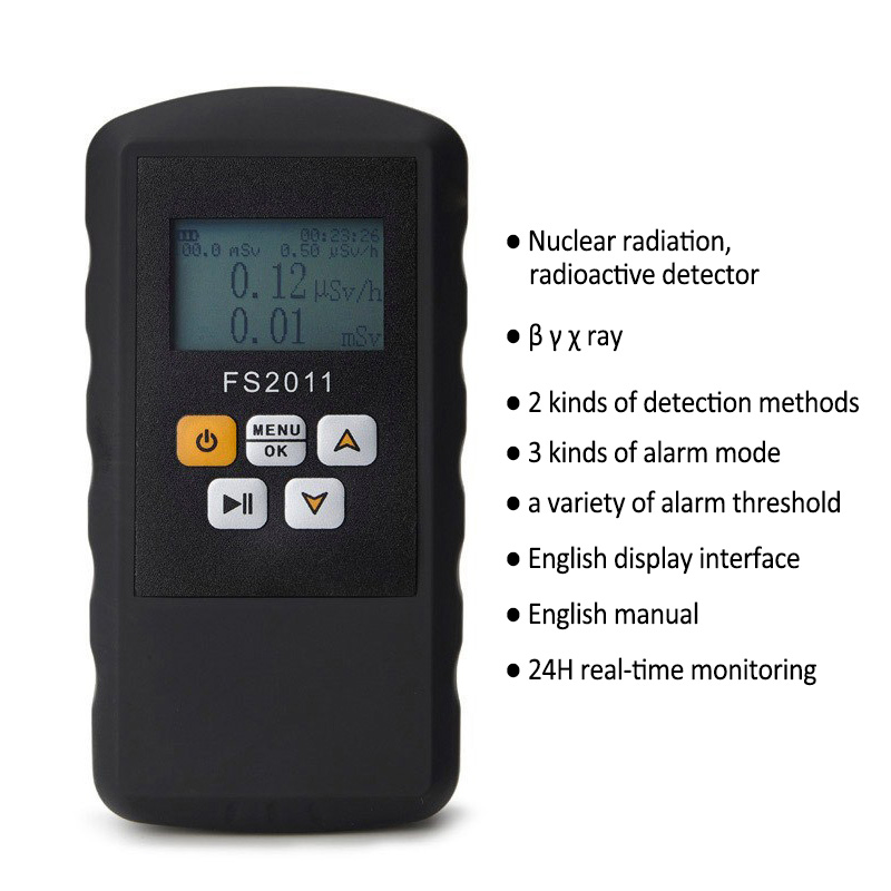 New Electric Nuclear Radiation Detector Portable Multi functional Digital Monitoring Alpha Beta Gama Ray Radiation Detector
