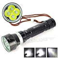8000 Lumen 4x XM-L L2 LED Stepless Dimming Diving Flashlight Torch Underwater Diving Up to 100m depth Diver Flash Light Lanterna
