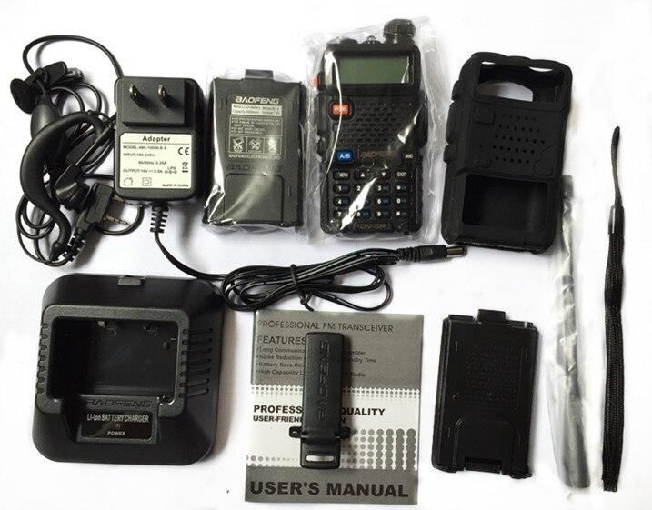 BaoFeng UV-5R Walkie Talkie VHF/UHF136-174&400-520Mhz + Soft Case + Battery Case Handy Hunting Radio Receiver With HeadfoneBaoFeng UV-5R Walkie Talkie VHF/UHF136-174&400-520Mhz + Soft Case + Battery Case Handy Hunting Radio Receiver With Headfone