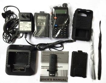 Baofeng uv-5r يتحملها vhf/uhf136-174 و 400-520 ميجا هرتز + حالة لينة + حالة البطارية مفيد الصيد راديو استقبال مع headfone