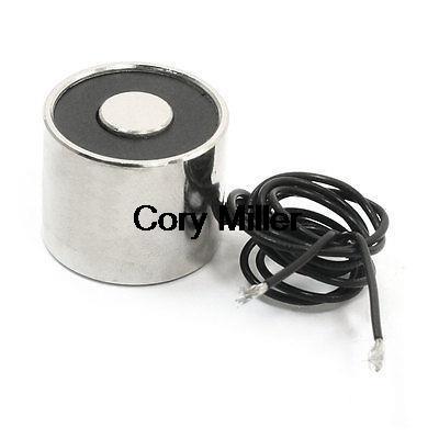 24V 5Kg Electric Lifting Magnet Electromagnet Solenoid Lift Holding 25 x 20mm