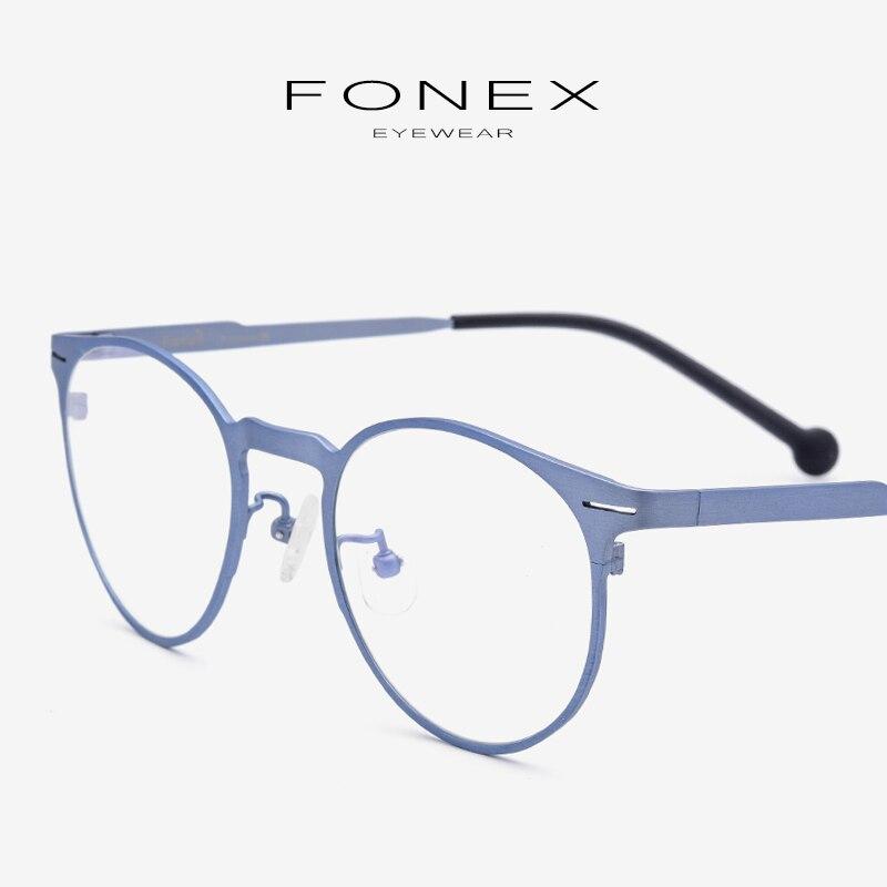 B pur titane lunettes cadre hommes ultralégers de haute qualité Prescription ronde optique myopie lunettes cadres lunettes pour femme 7705