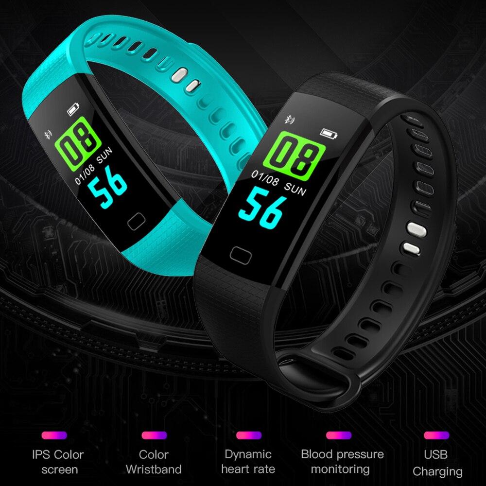 OGEDA deporte pulsera reloj mujeres hombres LED impermeable pulsera inteligente ritmo cardíaco reloj podómetro para Android iOS