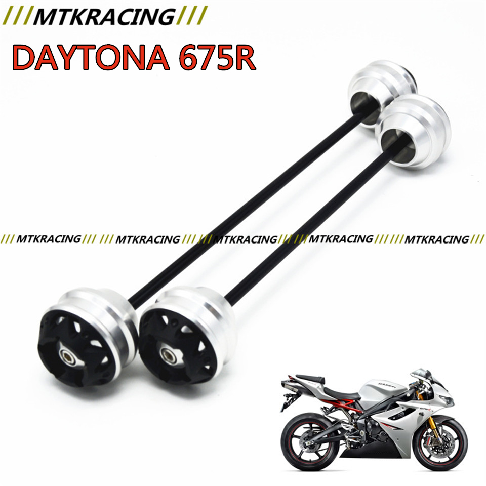 Free shipping for TRIUMPH DAYTONA 675/R 2006-20016 CNC Modified Motorcycle Front and rear wheels drop ball / shock absorber new free shipping motorcycle red front
