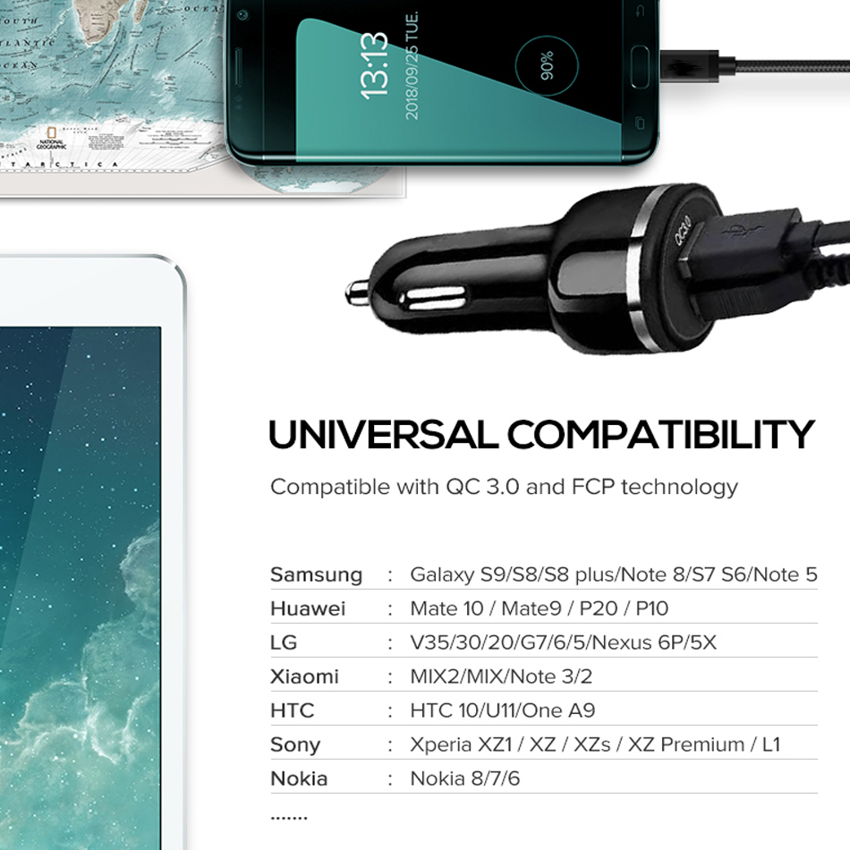qc 3.0 usb charger for samsung s 10e s10 s9 s8 for redmi note 7 pro note7