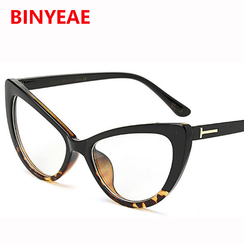 2017 sexy Cat Eye glasses frame Women Brand designer ...
