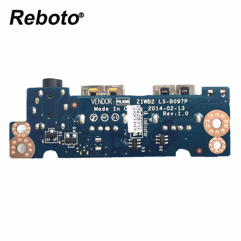 Reboto Original Used For Lenovo E40-30 E40-70 E40-45 Usb Audio Jack Board Ls-b097p 100% Tested Fast Ship Large Assortment Computer Cables & Connectors