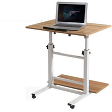 Simple modern desktop comter desk double plate lifting movable split multifunction household lazy table FREE SHIPPING