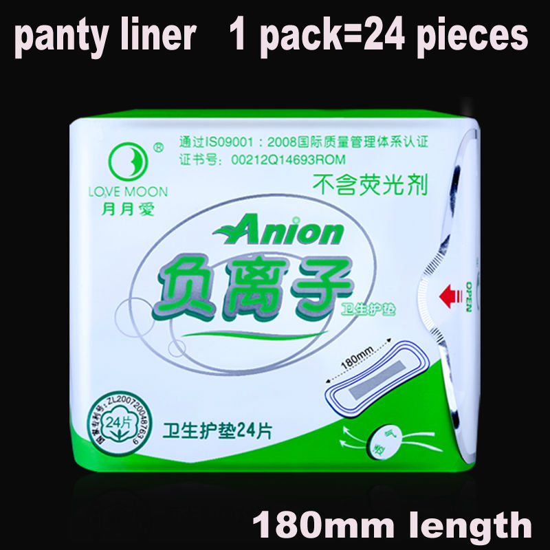 24 piece 1pack lot Anion pads love moon anion sanitary pads slipeinlage winalite sanitary napkins anion