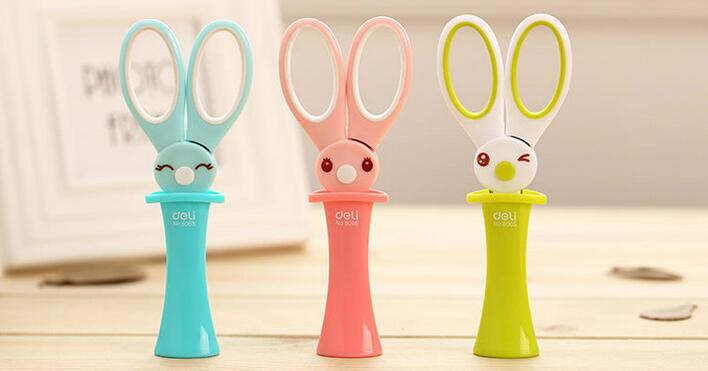 1pcs Kawaii DIY Cartoon Magic Bunny Scissors For Kids , Children's Cartoon Paper Cut Scissors