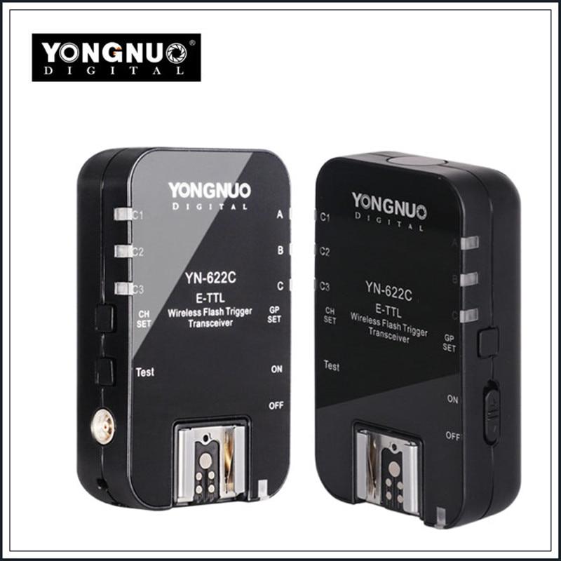 Yongnuo YN622C YN-622C Wireless ETTL HSS 1/8000S Flash Trigger 2 Transceivers for Canon 1100D 1000D 650D 600D 550D 7D 5DII 50D yongnuo yn 560iv yn560 iv flash speedlite for canon eos 5d mark ii iii 7d 5d 50d 40d 500d 550d 600d 650d 1000d 1100d 450d 400d