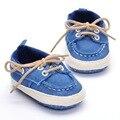 Primavera/Otoño De 0-18 Meses Bebé Infantil-atado Cruz Tela de Algodón Suave Suela Primeros Caminante Zapatos del pesebre