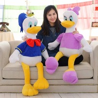 Babiqu 1pc 70cm Giant Cartoon Donald Daisy Duck Plush Stuffed Cotton Dolls Home Decoration Pillow Toys Children Birthday Gift