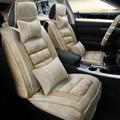 3D Pelúcia Inverno Almofada Tampa de Assento Do Carro Para Peugeot 206 207 2008 301 307 308sw 3008 408 4008 508 rcz, Alta-fibra couro, Carro-Cover