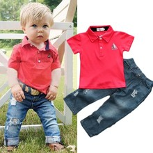 Kids Boy Clothes Sets Short Sleeves T-Shirt Outfit