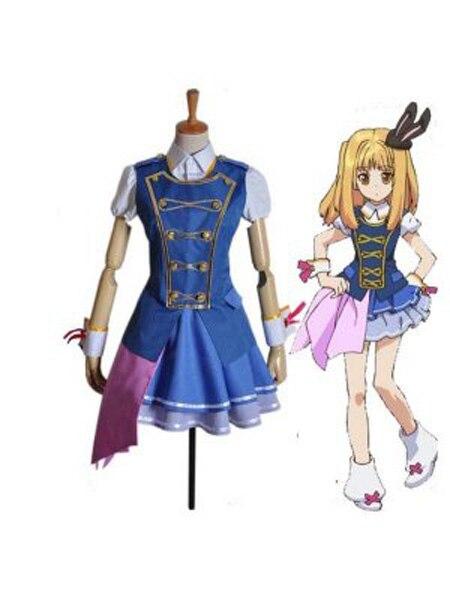 AKB0048 Косплэй Соната shinonome синий Косплэй show костюма взрослых Аниме Костюмы на Хэллоуин для женское платье Косплэй костюм