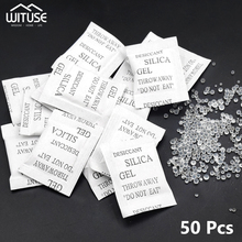 50 Packs Non-Toxic Silica Gel Desiccant Damp Moisture Absorber Dehumidifier For Room Kitchen Clothes Food Storage