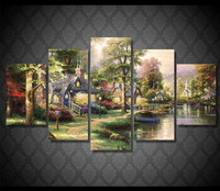5Planes Full Square 5D DIY Diamond Painting Fairy Tale Village 3d Diamond Embroidery Cross Stitch Mosaic