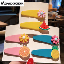 2PCS/lot Fashion new Fruit Hairpin pineapple Flower Hair Clips Simple Hairgrip Lovely Barrettes Bangs Clip Girl Accessories