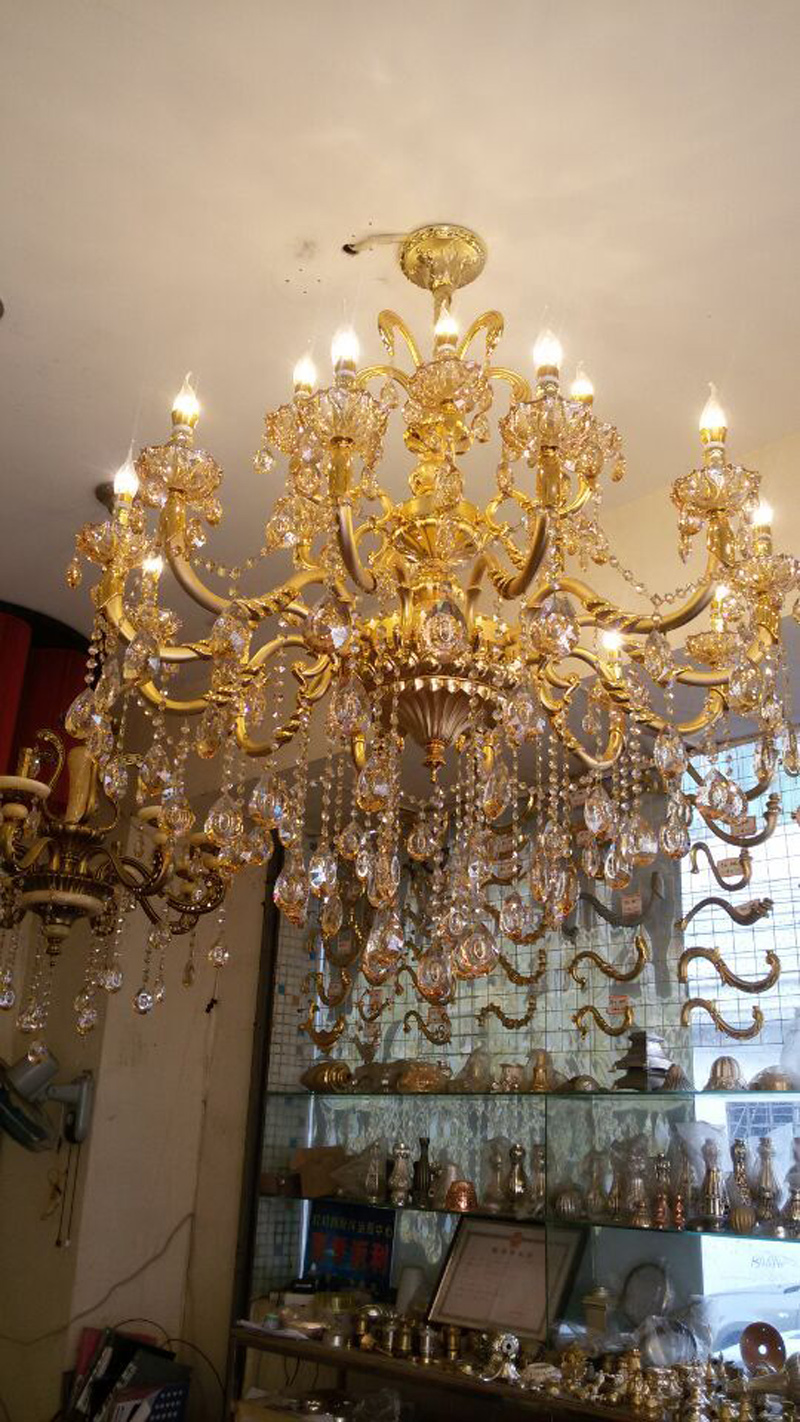 Gold Crystal Chandelier Modern Gold Chandelier Lights Indoor Lighting  Modern Led Chandelier Parts Kitchen Chandelier Led Lamp In Chandeliers From  Lights ...
