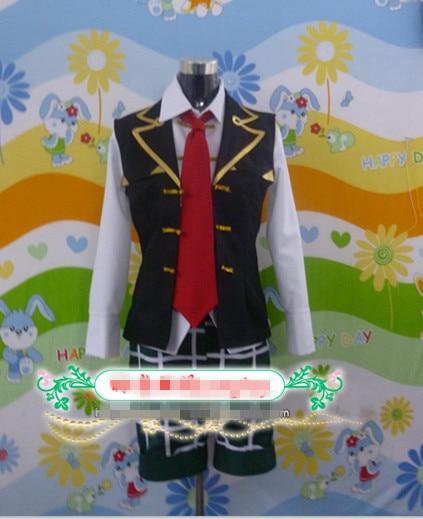 Pandora Hearts Oz Vessalius Cosplay Costume Vest+Shirt+Tie+Pants