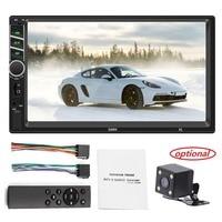 Car Multimedia Player FM Radio Autoradio Bluetooth AUX USB 7in HD Auto MP5 Player Touch Screen Backup Camera Mirror Link