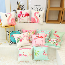 Fashion Flamingo Printed Cushion Covers Sofa Waist Throw Home Decor Cover Case Decorative Accessories For Live Studio