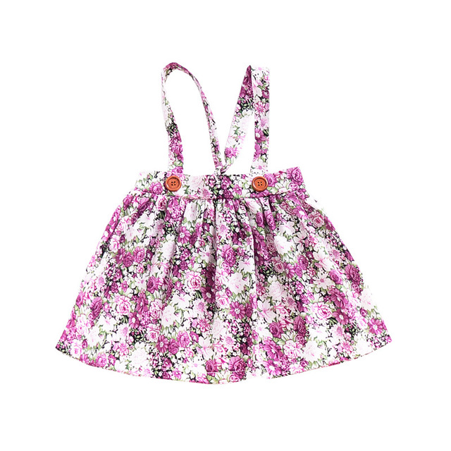 1-4y Summer Children Clothing Floral Girl Skirt Cotton Cute Toddler Suspender Skirts for Baby Girls Clothing