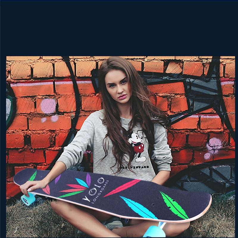 Professionnel de Planche À Roulettes D'érable Canadienne Longboard planche de skate 4 Roue Descente Rue Longue Planche De Danse Conseil Rouleau Driftboard