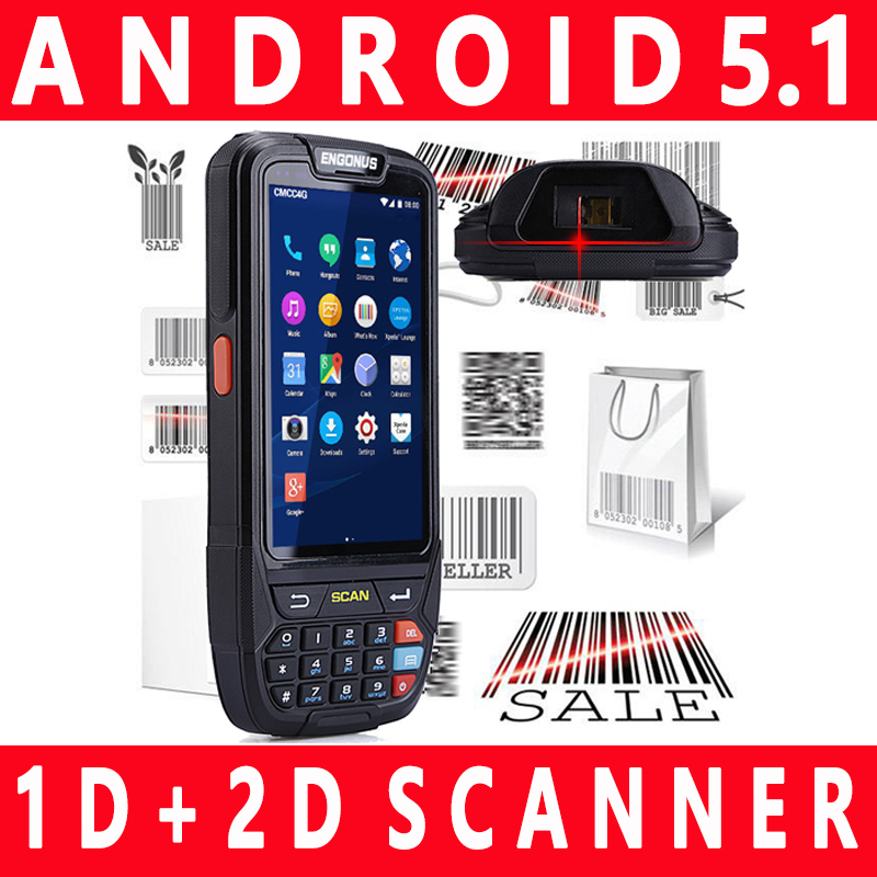 2d Portable 1d Scanner Android Lcd Screen Laser Light New Pda Barcode Data Mobile Barcode Scanner Rfid Nfc Pda 4in