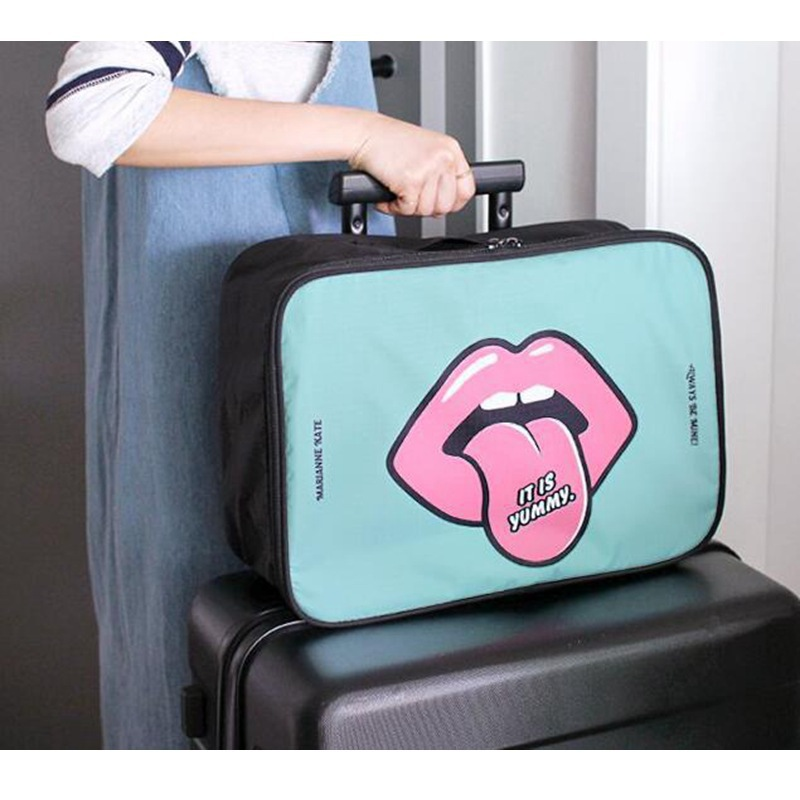 Travel Package Boarding Bag Clothing Underwear Finishing Storage Travel Accessories Cartoon Funny Packing Organize Girl Love New in Travel Accessories from Luggage Bags