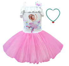Girls new dress fancy nancy beautiful Nancy Cosplay girls birthday party dress sling tutu fancy nancy nancy clancy seeks a fortune