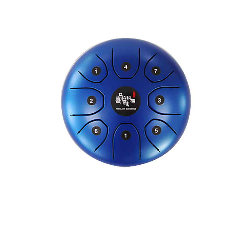 5.5 Mini size steel tongue drum 8 notes with case and rubber mallets Hank drum for Pregnant women children Music instrument