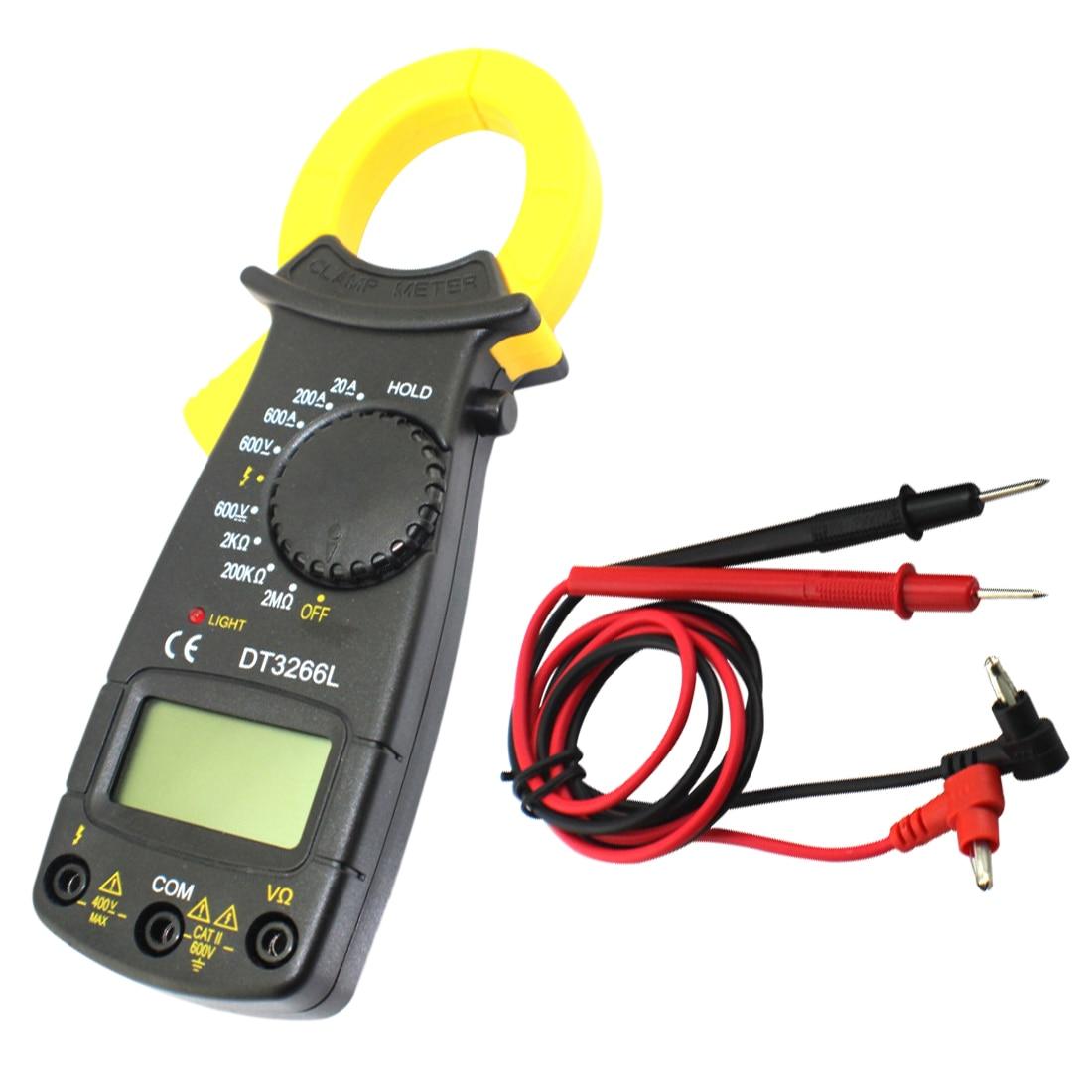 Digitale DT-3266L Strommesszange 600A AC/DC Multimeter Stromzange Pinzetten Voltmeter Strom Spannung Tester
