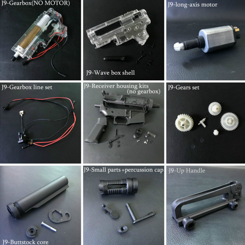 Toy New Jinming J9-m4a1 Gel Ball Blaster Nylon Original Accessories No.2 Gearbox Toy