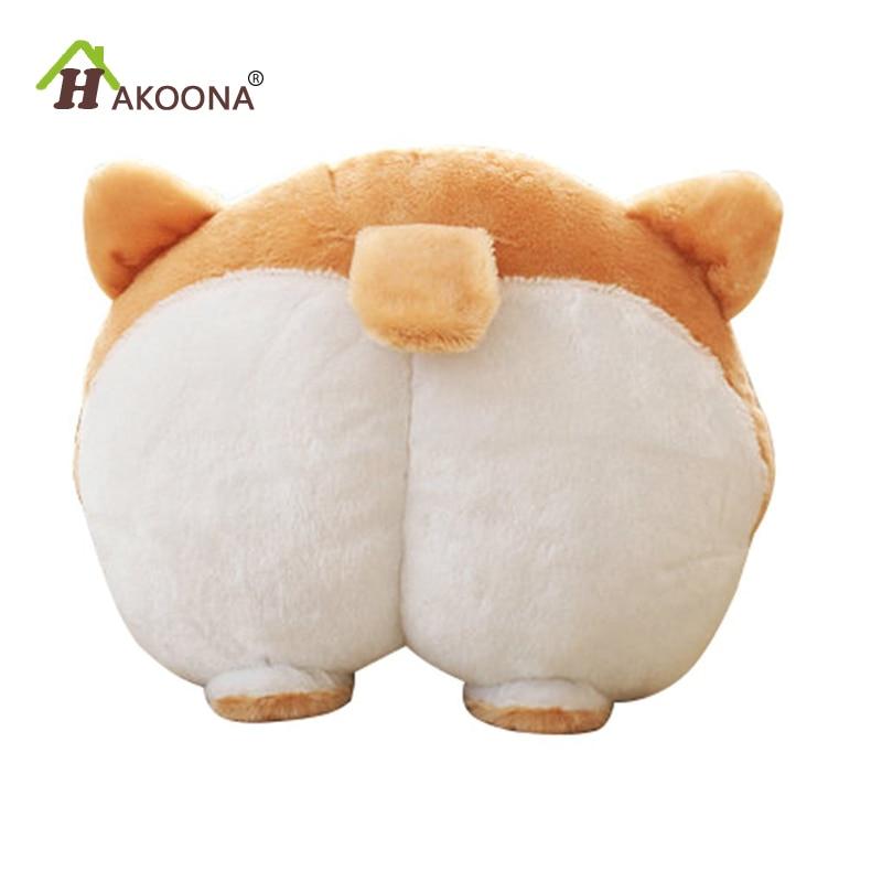 HAKOONA Corgi Cute Butt plush Throw Pillow Animals Stuffed Toy Car Neck Pillows
