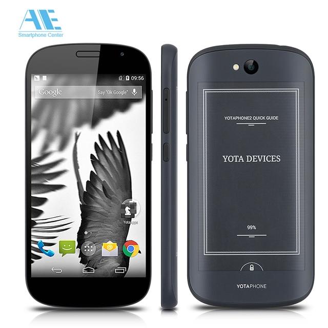 Оригинал YOTAPHONE 2 YD206 Двойной Экран Смартфон Snapdragon 801 Android сотовый Телефон 5.0 Inch 2 ГБ RAM 32 ГБ ROM 4 Г LTE Mobile телефон
