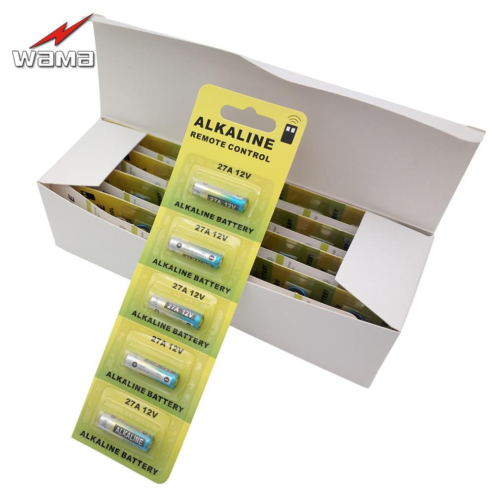 50x Wama <font><b>27A</b></font> Alkaline <font><b>12V</b></font> Primary Dry <font><b>Batteries</b></font> A27 27AE 27MN Alarm Car Remote <font><b>Battery</b></font> Drop shipping Wholesales