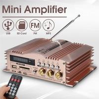 KROAK Mini Hi Fi 600W 2 CH Stereo Audio Power Amplifier USB SD FM Car Auto