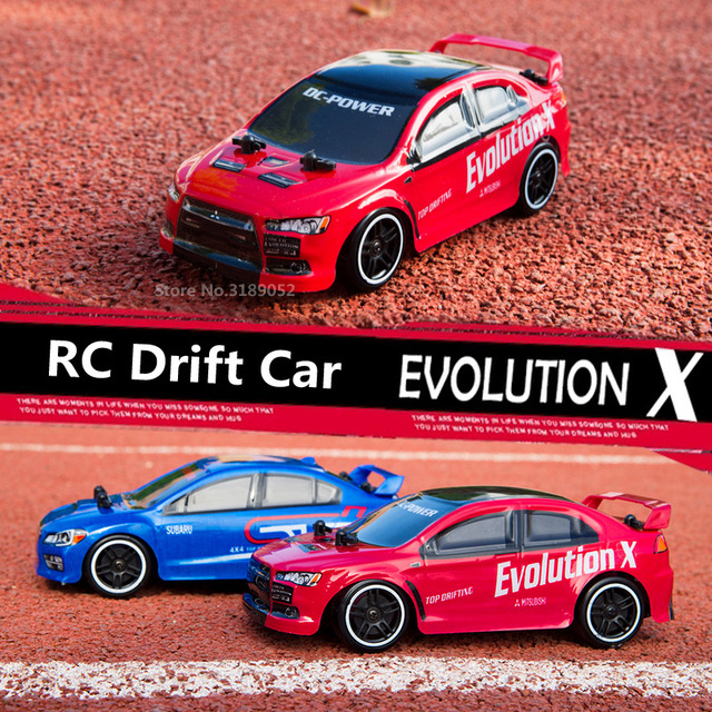 HOT!2.4G RC Drift Speed car EVO Evolution X Subaru 4 Channel Remote Control Racing Car 30KM/H High Speed 4WD Drift Racing Car(China)
