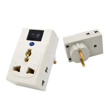 Portable EU Plug  Adapter Power Socket Travel Converter with independent switch