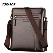 VORMOR ünlü marka deri erkek çantası rahat iş deri erkek askılı çanta moda erkek Crossbody çanta bolsas erkek