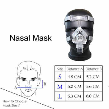 Nasal Mask Super Deal Nasal Mask Color White With Adjustable Headgear Comfortable For CPAP Machine