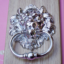 160mm bigger size vintage style lionhead wood door knocker silver gold bronze lionhead sofa wooden chair pull drop rings handles