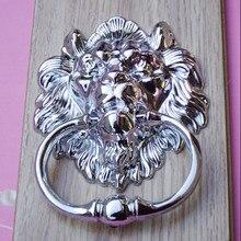 160mm bigger size vintage style lionhead wood door knocker silver gold bronze lionhead sofa wooden chair pull drop rings handles