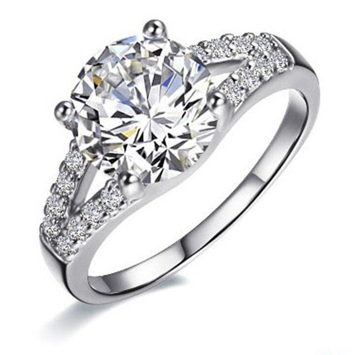 2 Carat White Gold 585 Round Brilliant Cute Synthetic Diamonds Women  Wedding Ring Bonzer Design Lovely Anniversary Gift 449c30b946