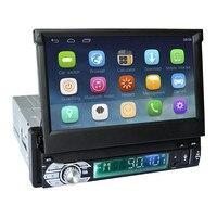 7 емкостный сенсорный экран 1Din автомобиль Android 6,0 Радио Стерео 600*1024 универсальный для BT Радио стерео аудио плеер gps навигации