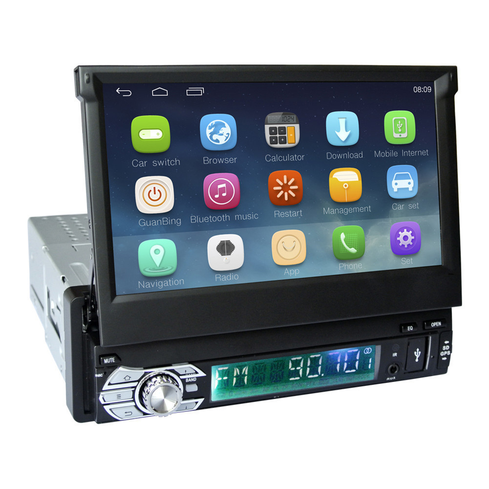 7 Capacitive Touch Screen 1Din font b Car b font Android 6 0 Radio Stereo 1024