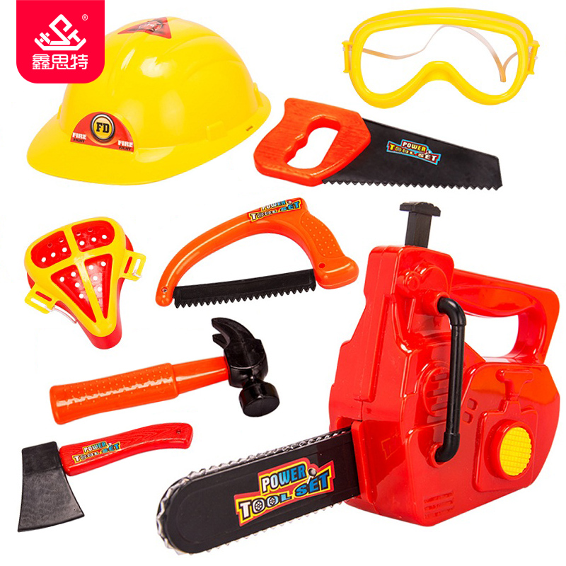 kids repair tools toys children pretend play construction tool toy set baby plastic chainsaw. Black Bedroom Furniture Sets. Home Design Ideas