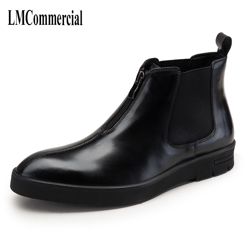 new autumn winter British retro fashion professional cow leather boots men euro man winter men's boots breathable male mulinsen new 2017 autumn winter men